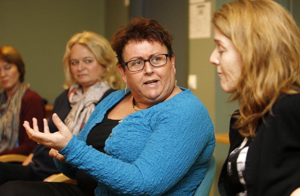 Stortingsrepresentant Olaug Bollestad møtte ein lydhøyr og engasjert delegasjon frå helsetenesta i Tysvær.  Foto: Alf-Einar Kvalavåg