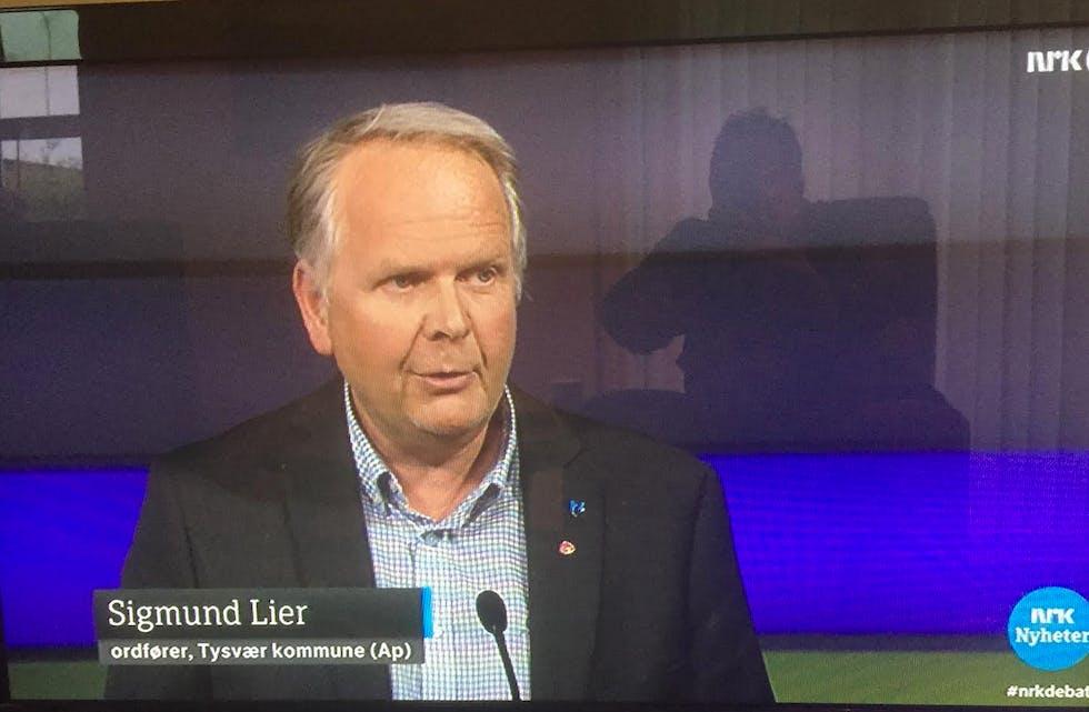 Sigmund Lier er på 8. plass på AP sin liste til stortingsvalget. Skjermdump: debatten, NRK