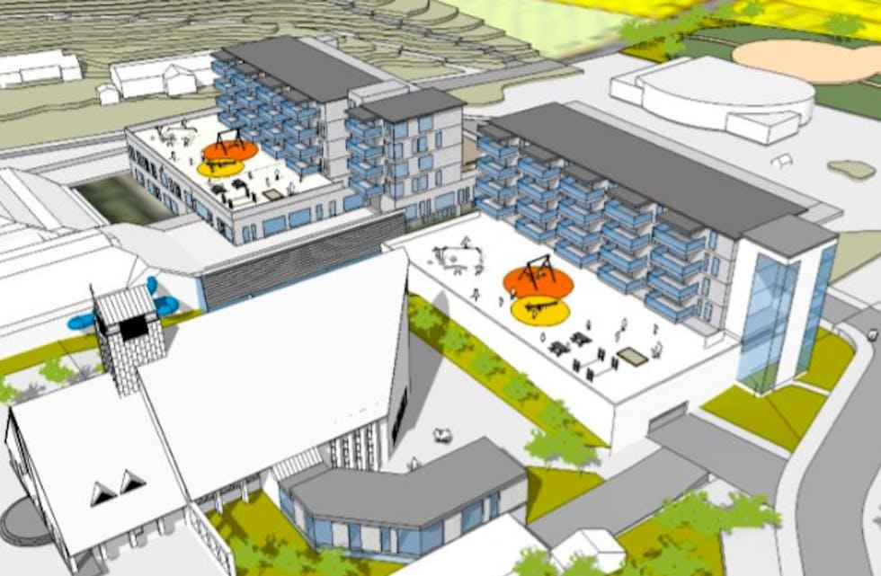 Slik er planene for Albatross-byggene i Aksdal. oppstart er neste sommer.