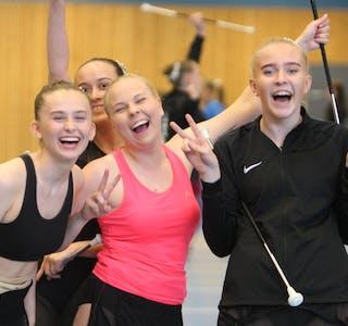 NM sølv til denne kvartetten fra Frakkagjerd Drill: Vilde Skofteland, Ada Jensen, Åshild Knutsen og Tine Sofie Leirvoll. Foto: Alf-Einar Kvalavåg