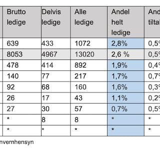 Slik er tallene for de ulike kommunene.