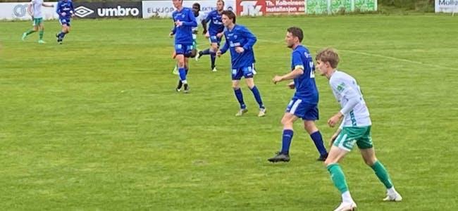 Falkeid a-lag sin første  tellende kamp på utrolige 665 dager endte med 2-8 mot Kopervik. Foto: Rolf Magne Bakken