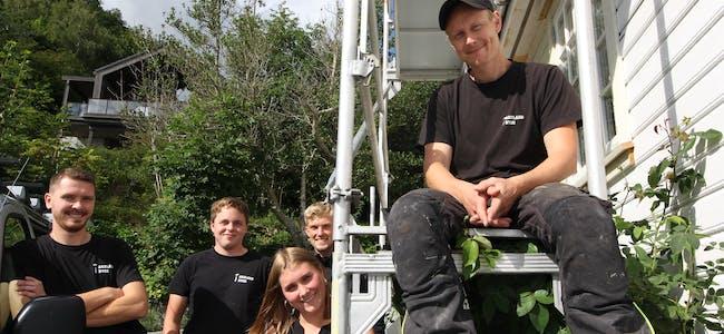 Gjengen i Aksland bygg består av Audun Tendeland, Torstein Lyse, Gunnar Vetrhus, Gina Aksland og William Aksland.