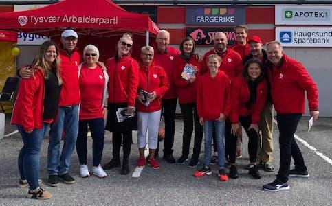 Denne gjengen jobbet hardt for at det ble en stemme mer til Ap enn Høyre i Førre.