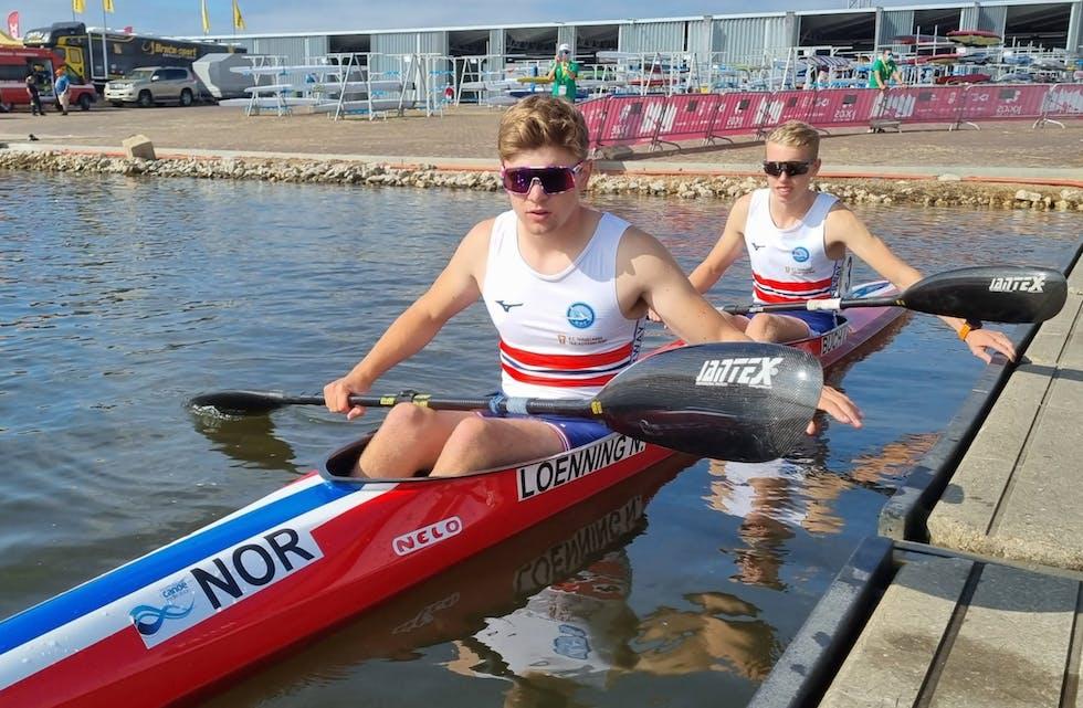 Nicolai Lønning og Ivar Buch under sprint VM tidligere i september. Foto: Svein Egil Solvang